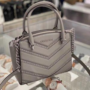 Michael Kors SM conv Ellis satchel pearl gray